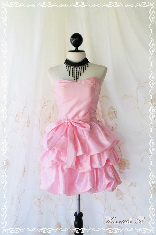 Prom queen ii bubble balloon dress baby pink color for Bubble skirt wedding dress