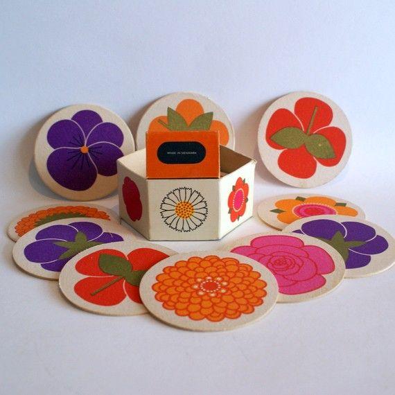 Vintage coasters designed by Al  Lena Eklund Vintage/Retro