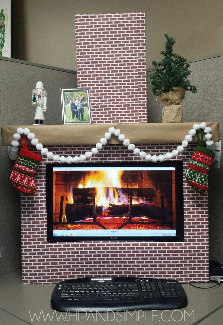 Fake Fireplace Makeover