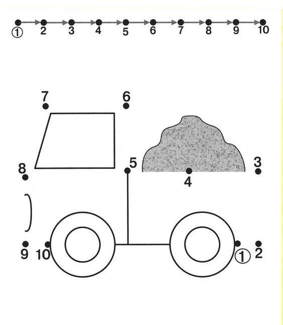 Image result for 1-10 dot to dot | School | Preschool ...