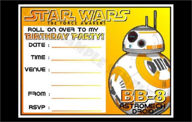 Star Wars Birthday Invitations Templates Free Star Wars Invitations Star Wars Birthday Party Star Wars Birthday Invitation