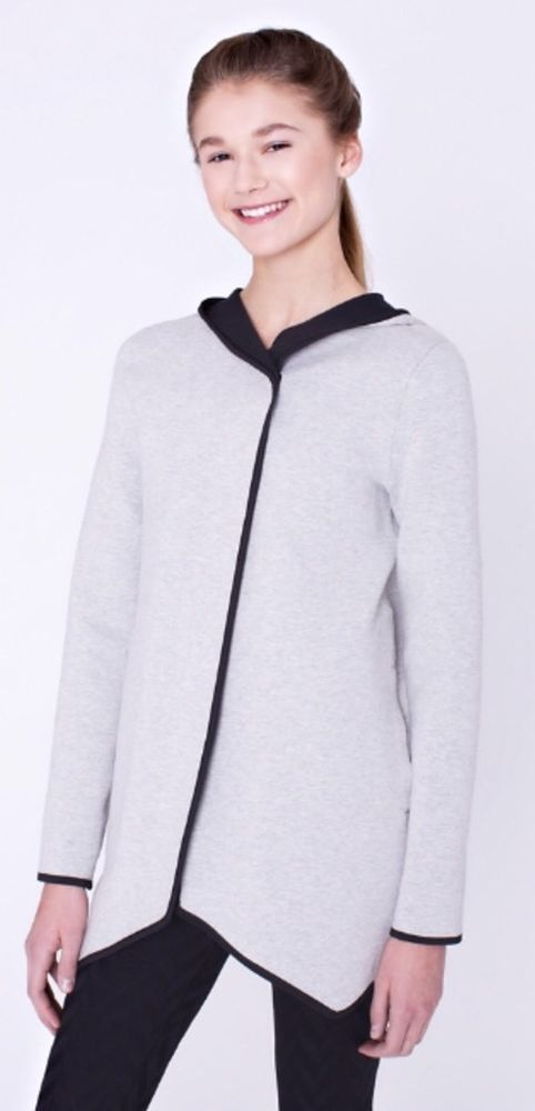 NWT Ivivva Lululemon On The Double Wrap Jacket Reversible Hoodie Gray Black Sz 7  | eBay
