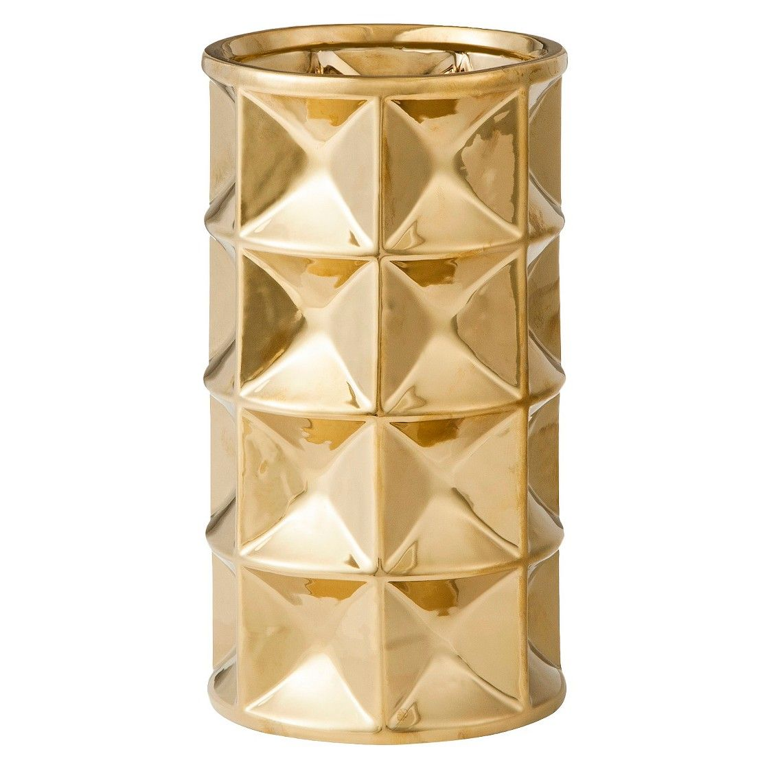 Nate Berkus Round Geo Vase - Gold got this today for my office ...