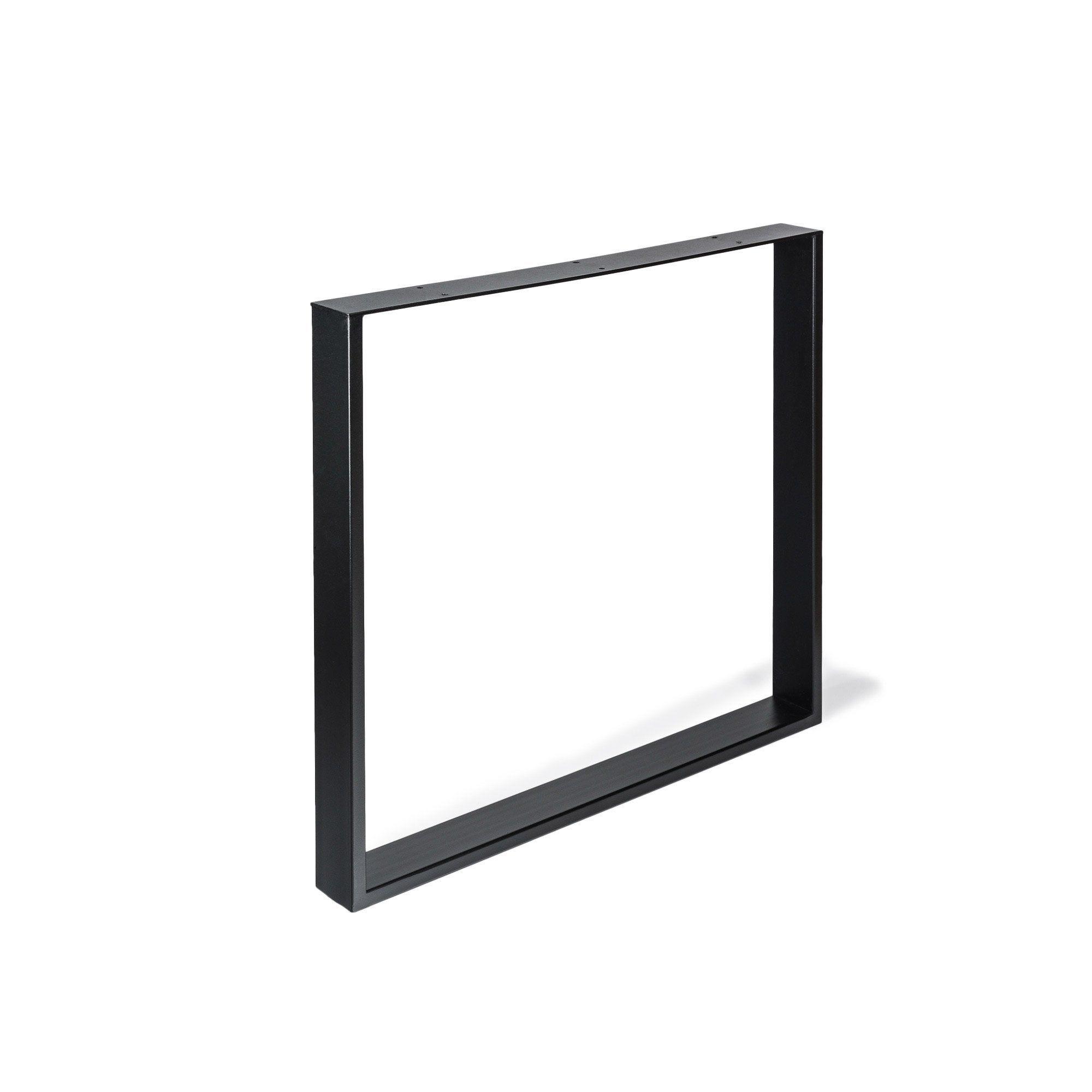 Pied Meuble Design Fixe Metal Brut Noir 71 Cm En 2020 Meuble Design Pied Meuble Et Brut