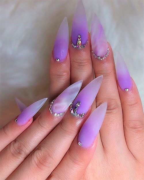 Best Summer Ombre Nails In 2019 Purple Ombre Nails Ombre Nails