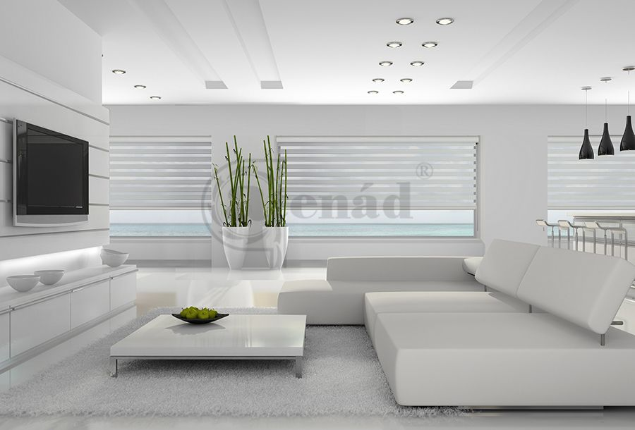 White Interior Twinlight Blind Living Room Amp Blinds