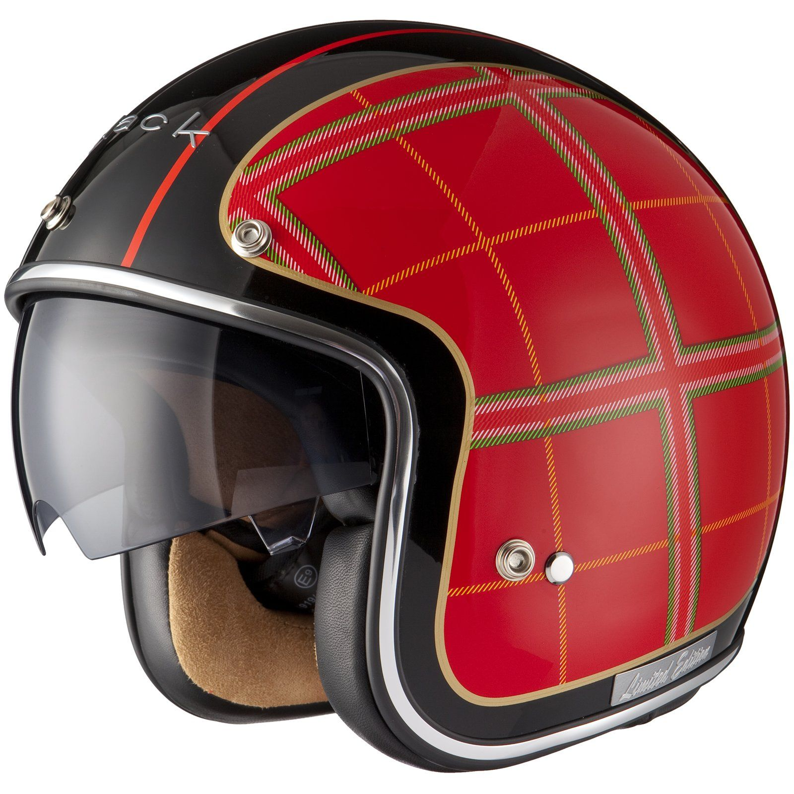 Black Highland édition Limitée Casque Jet De Moto Ou Scooter Amazon
