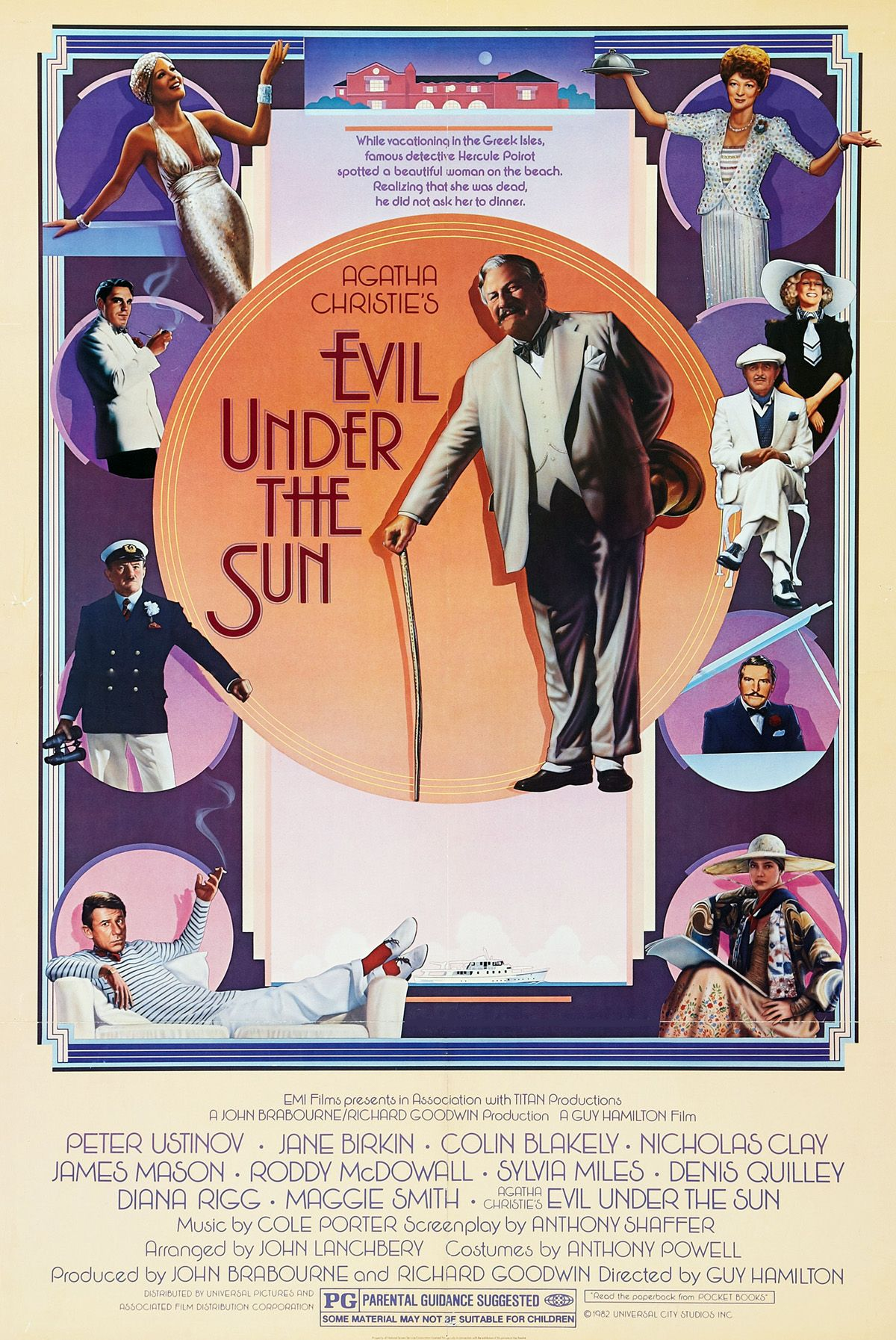 Evil Under The Sun Original Release One Sheet Movie Poster One