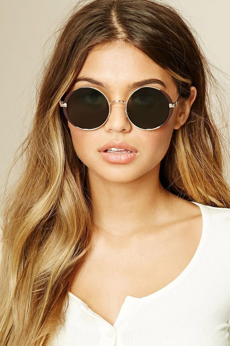 Metal round sunglasses brought to you by