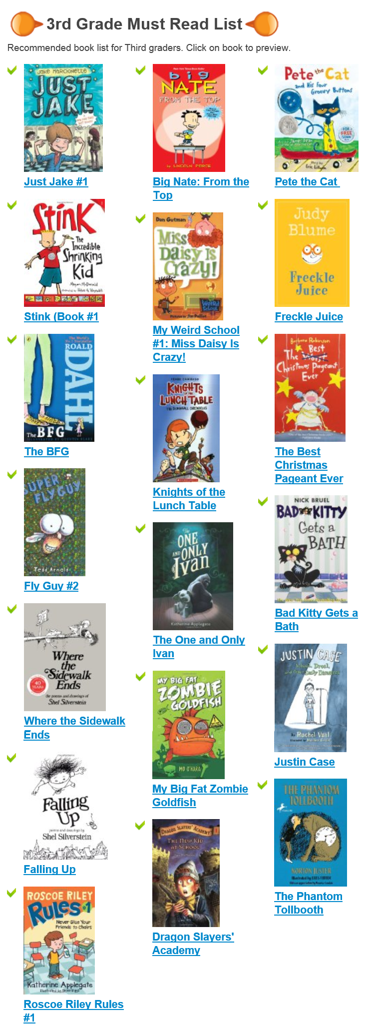 Top Most Popular 3rd Grade Book Lists For Kids Today Must Read