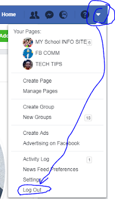 Facebook logout button from My Account - Facebook Log out login
