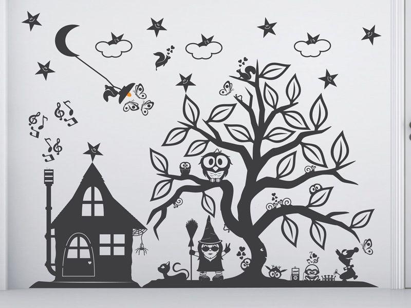 Nice Wandtattoo Zauberbaum Hexen Baum Knorre breit XXL von herz und happiness auf DaWanda