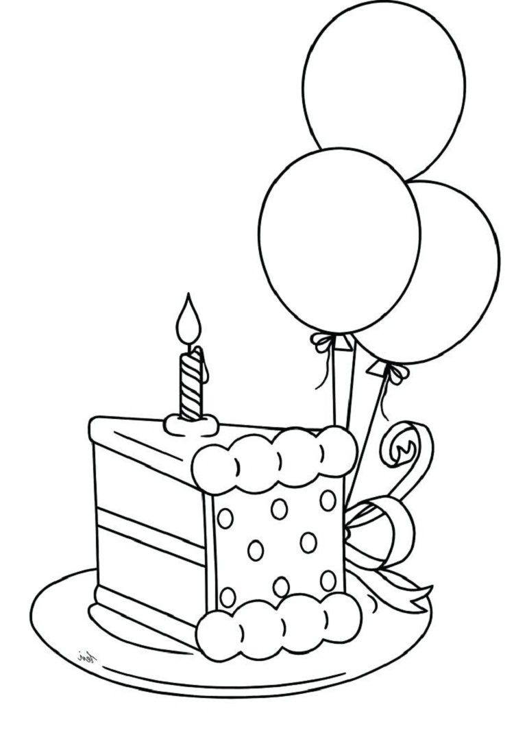 Birthday Cake Pieces Coloring Pages Coloring Pages For Kids