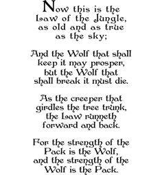 law of the jungle poem