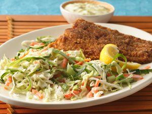 From Betty's Soul Food Collection...  Aw...go ahead! Enjoy a second helping of our lightened slaw. It's mixed with perfectly seasoned reduced-fat dressing and plenty of fresh, healthy vegetables.