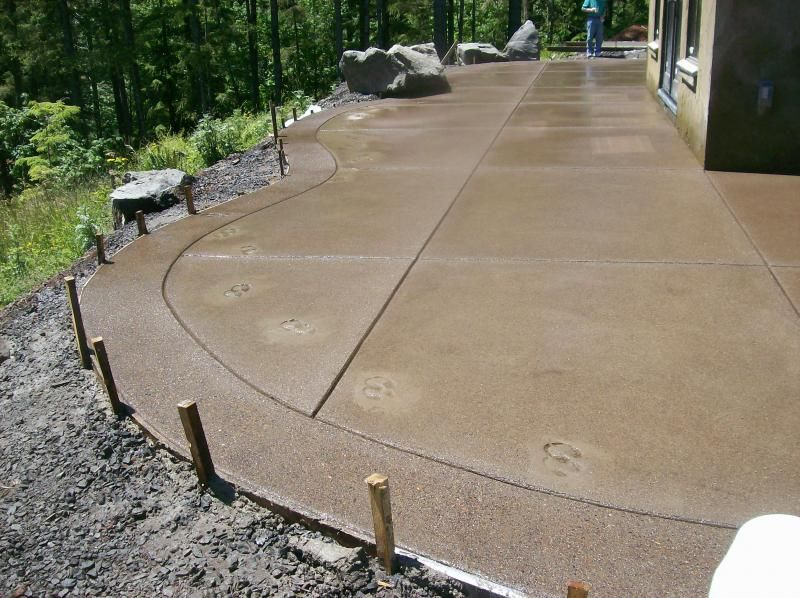 Charming Stained Concrete Patio Border | Decorative Concrete Radius Forming And Sand  Finish With Expose .