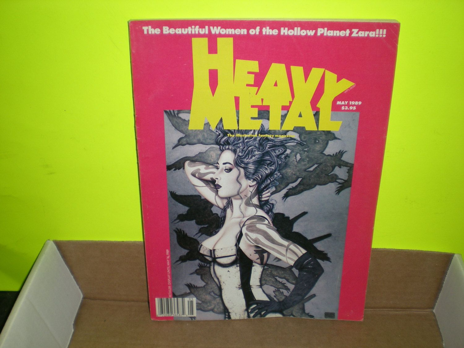 Heavy Metal Magazine May 1989, Vol XIII, #II, The Beautiful Women of the Hollow Planet Zara by HeroesRealm on Etsy
