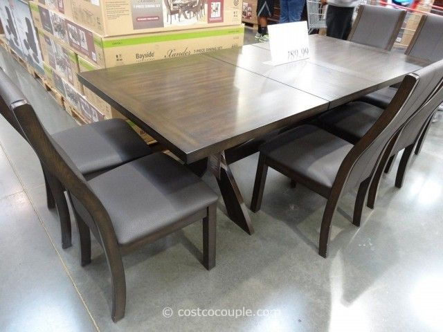 Bayside Furnishings Xander 7Piece Dining Set Costco 6  Furniture New Dining Room Sets Costco Inspiration Design