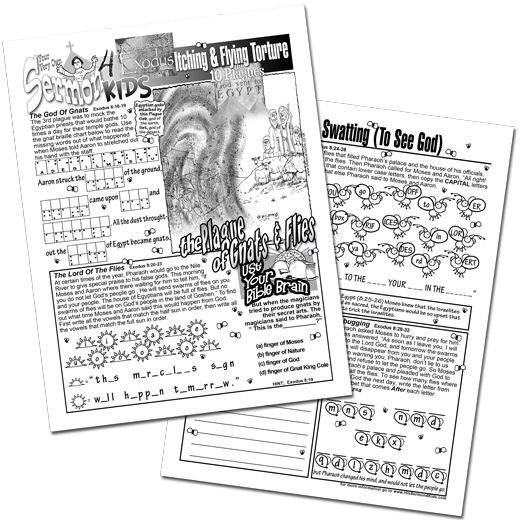 The Plague of Gnats and Flies a History-Activity-Puzzle