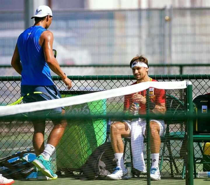 Rafa and David 1st practice in Rio