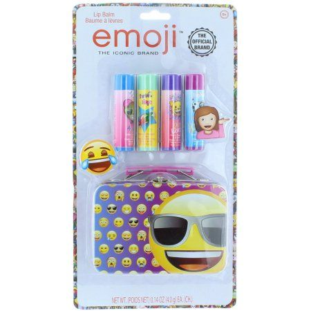 Emoji 4 Pack Lip Balm with Tin, Multicolor
