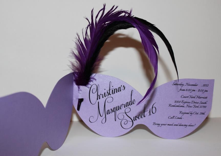 Sweet 16 Masquerade invitations | invitations | Pinterest ...