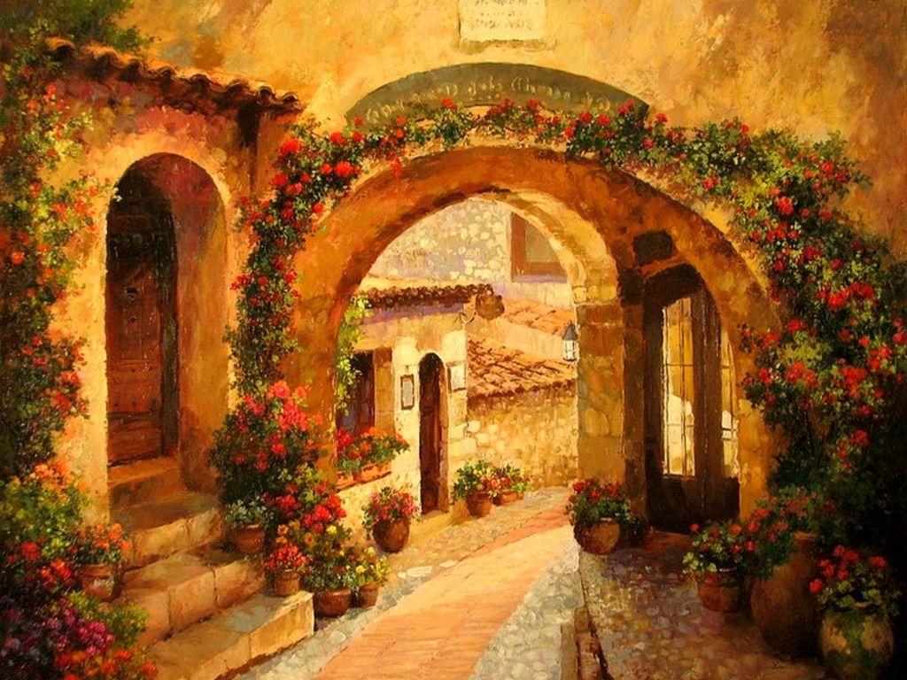 Inspiring Tuscan Courtyards 14 Photo Building Plans
