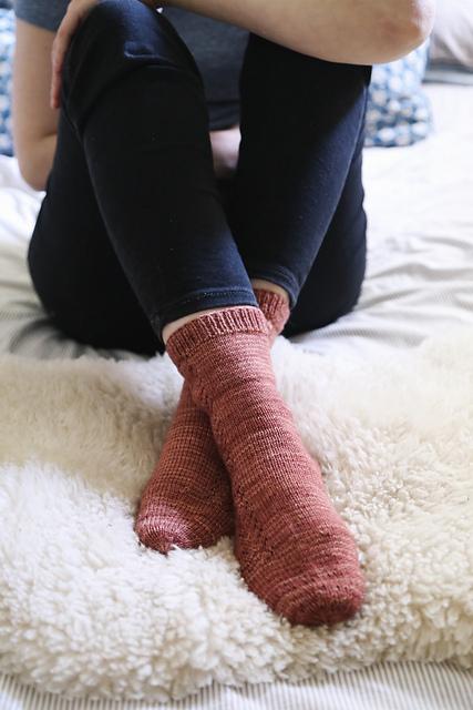Ravelry postscriptlove's Autumn Crisp Socks. Knit in