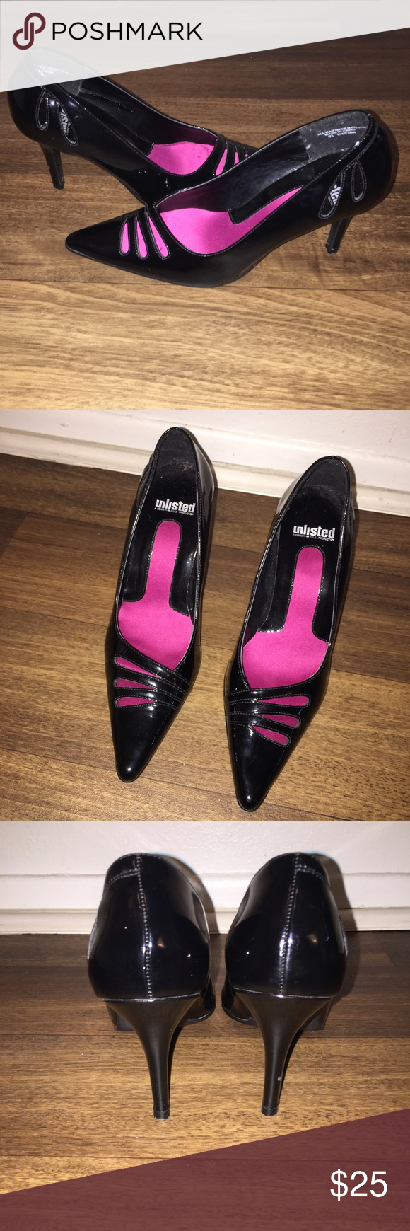 WEEKEND SALE! 🔥KENNETH COLE UNLISTED STILETTOS SIZE 7 1/2. FIRM PRICE! ABSOLUTE BEAUTIES! LOVE KENNETH'S SHOES.  THESE ARE MOMS IM SELLING THEM FOR HER :) THEY ARE IN GREAT CONDTION AS U CAN SEE IN PICS ONLY FLAW IS A SMALL LITTLE DOT ON OF THE HEEL SEE PIC. WORN A COUPLE TIMES GENTLY SIZE 7 1/2.  HEEL IS A TAD OVER 3 1/2 INCHES Kenneth cole unlisted  Shoes Heels