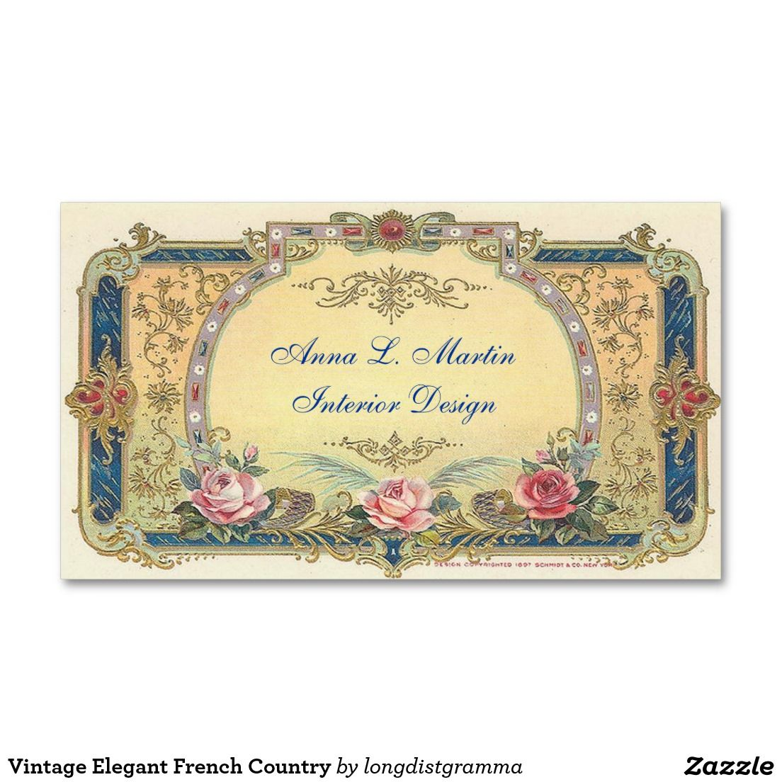 Vintage, Elegant French Country Business Card   Elegant, Painting ...