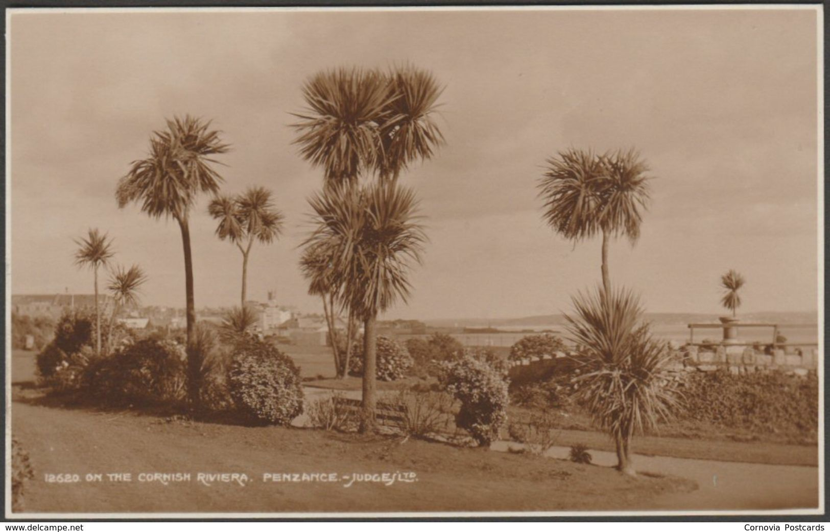 On the Cornish Riviera, Penzance, Cornwall, c.1930s - Judges RP Postcard