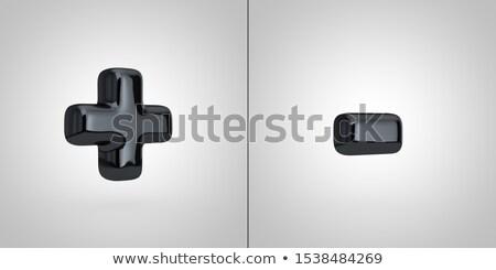 Black Alphabet Symbols Plus And Minus Isolated On White Background 3d Rendered Glossy Black Font Alphabet Symbols Alphabet Symbols