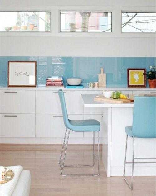 30 tolle wohnideen für küche glasrückwand | kleine küche | pinterest - Glasplatte Küche Ikea