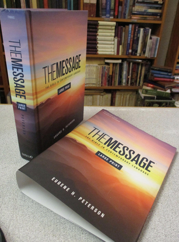 The Message Bible Large Print Hardcover Dust Jacket Eugene Etsy Christian Book Easy Reading I A Translation Or Paraphrase