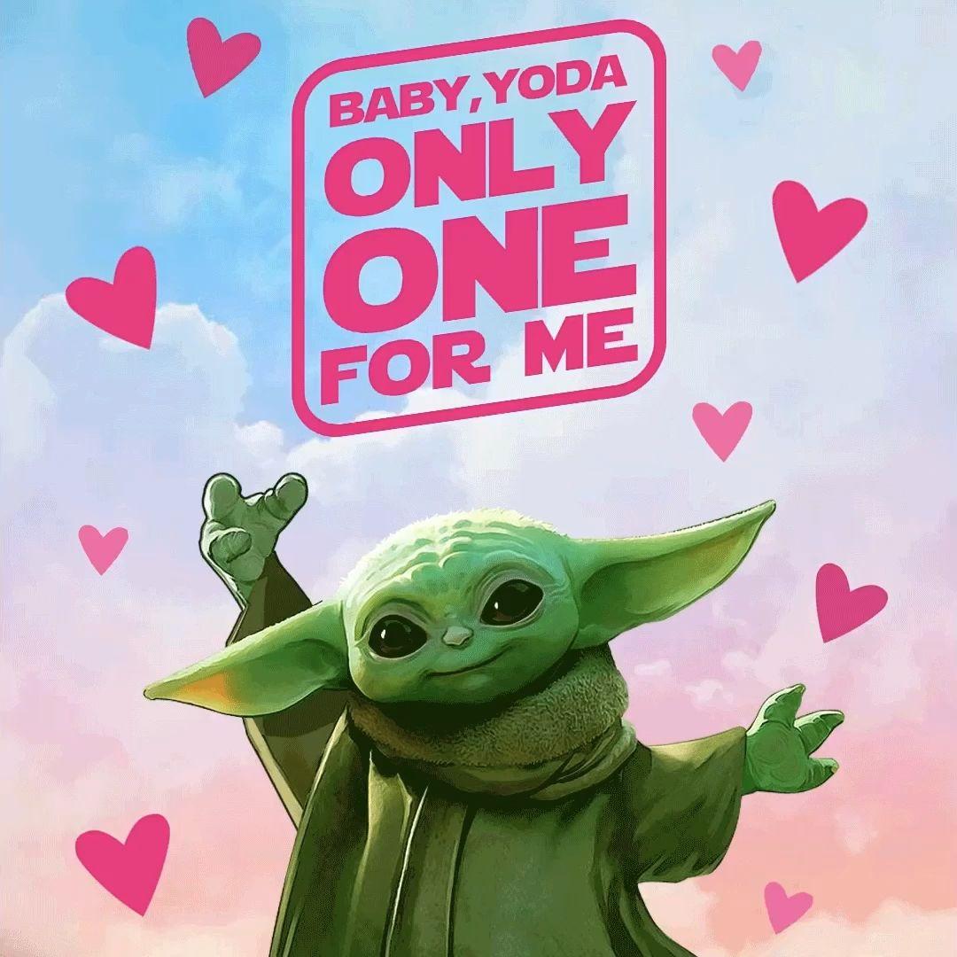 Baby Yoda Valentine Message Video Yoda Wallpaper Valentine Drawing Valentines