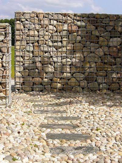 como hacer verja con piedra - Buscar con Google Jardin Pinterest