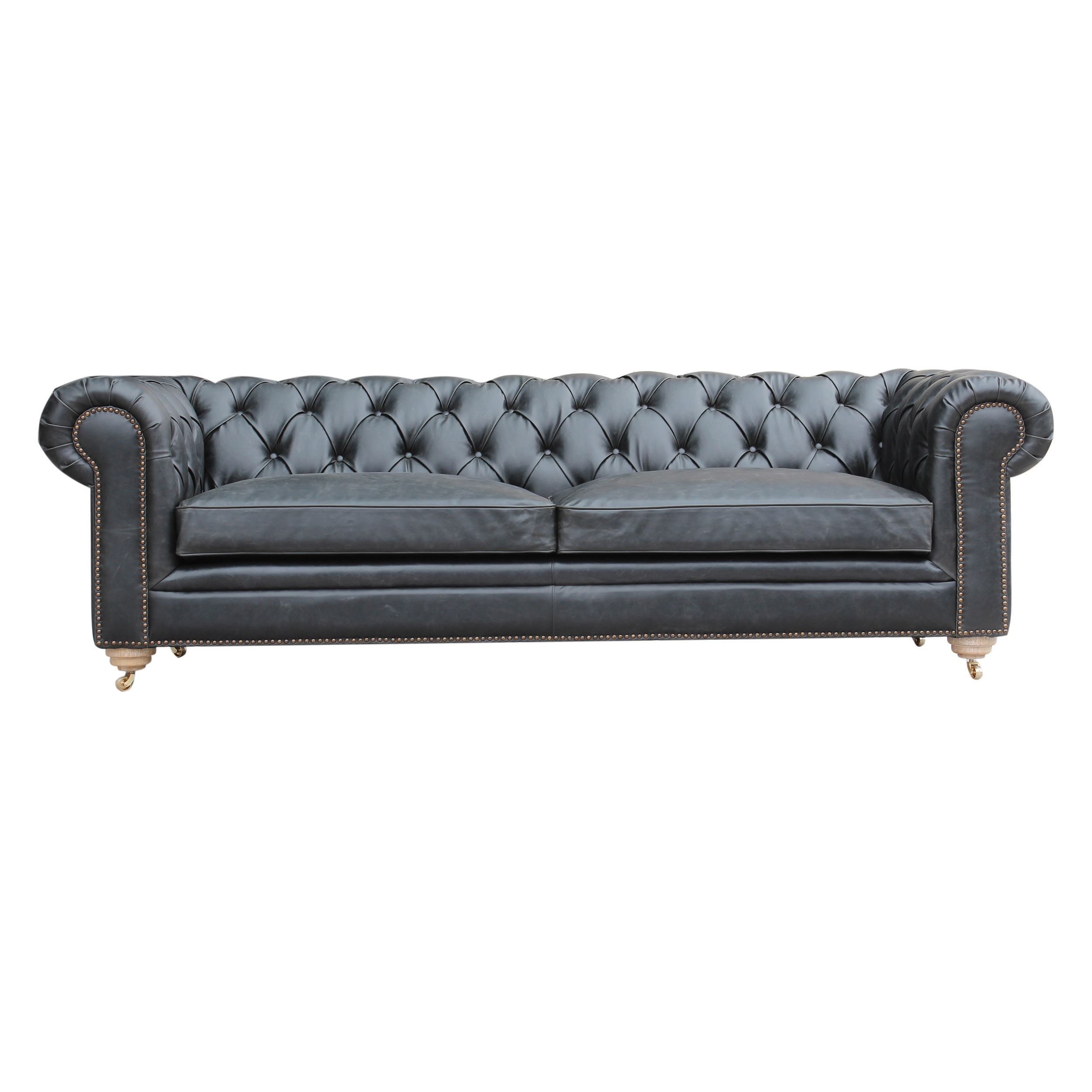 Caribou dane chesterfield black tufted sofa sf513711 birch