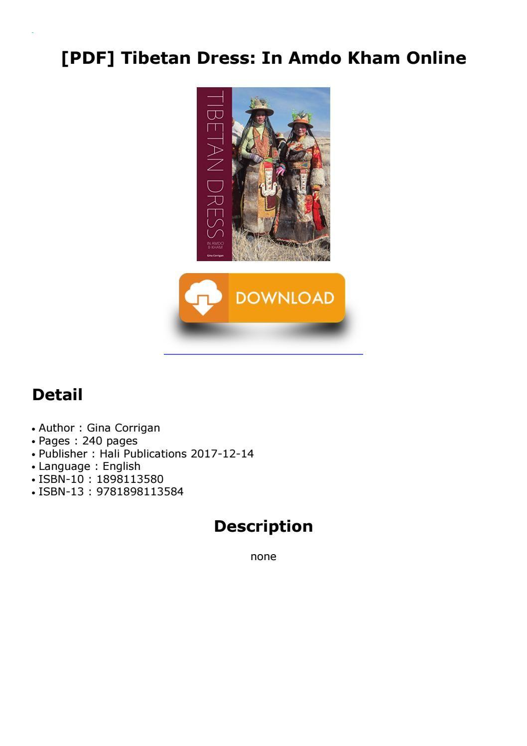 PDF] Tibetan Dress: In Amdo Kham Online | tibetan | Dresses