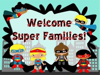 Superhero powerpoint perfect for open house or meet the teacher this file is perfect for your first open house or meet the teacher night it is in a super cute superhero theme toneelgroepblik Images