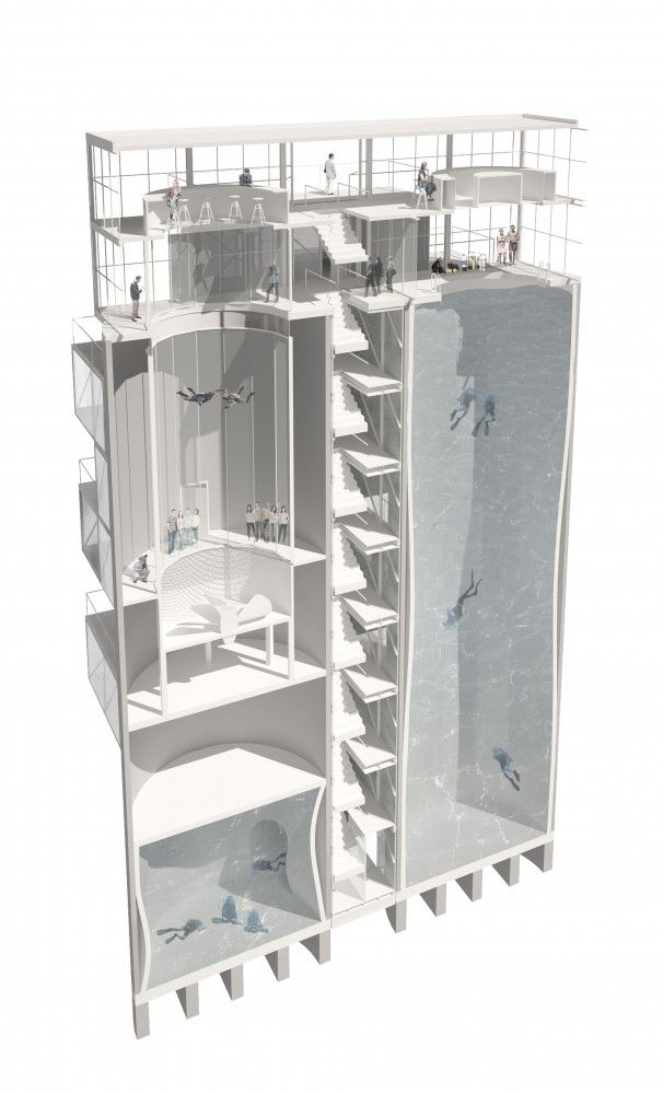 gallery of \u0027bs25\u0027 silos diving and indoor skydiving center \u0027bs25\u2032 silos \u2013 diving and indoor skydiving center proposal moko architects \u0027