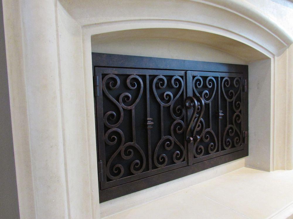 Custom Wrought Iron Fireplace Door Fireplacedoorguy Tuscan