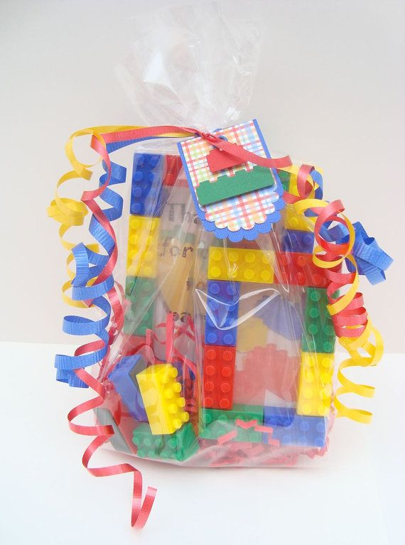 Building block birthday party favor treat bag by miamimere on Etsy ...