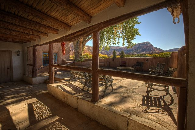 ghost house patio  skull  chilis  ghost ranch