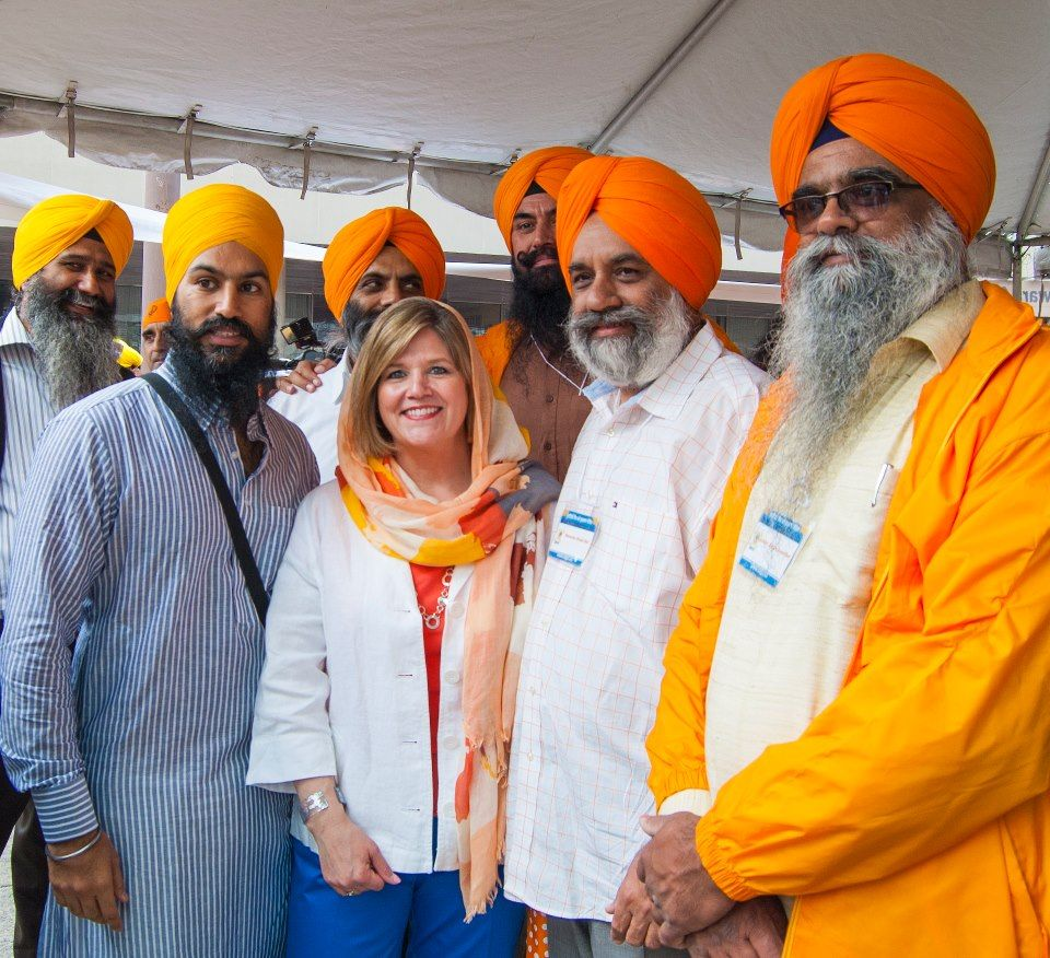 Ontario NDP Leader Andrea Horwath celebrating with thousands in Toronto on Khalsa Day!