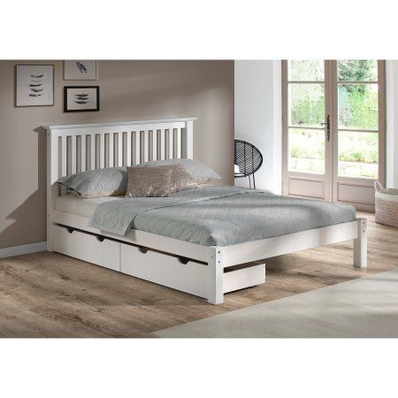 Barcelona Queen Bed With Storage Drawers White Storage Bed