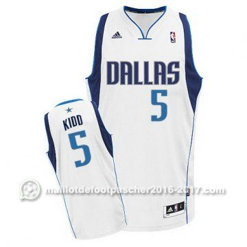 maillot nba pas cher Swingman Jason Kidd #5 blanc Dallas