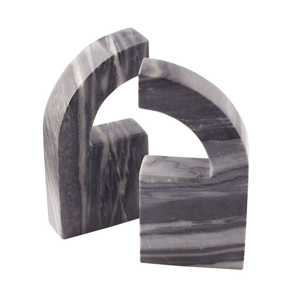 Marble Arch Bookends - Gray - NEW
