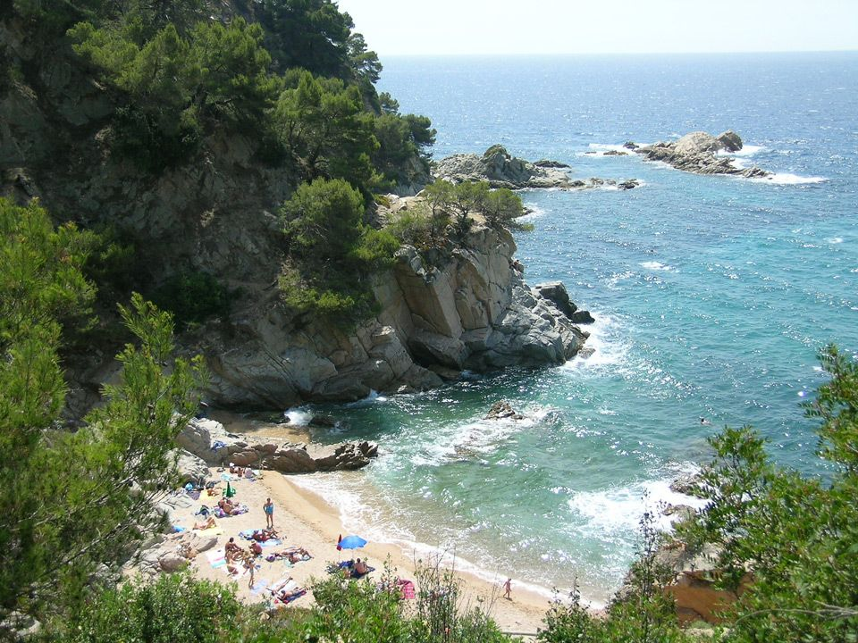 Beachside campsite in Spain