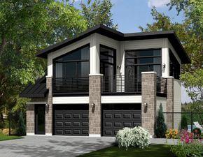 Plano De Casa Sencilla Y Moderna De Dos Plantas Y 45 Mts2 Carriage House Plans Garage House Plans Garage House