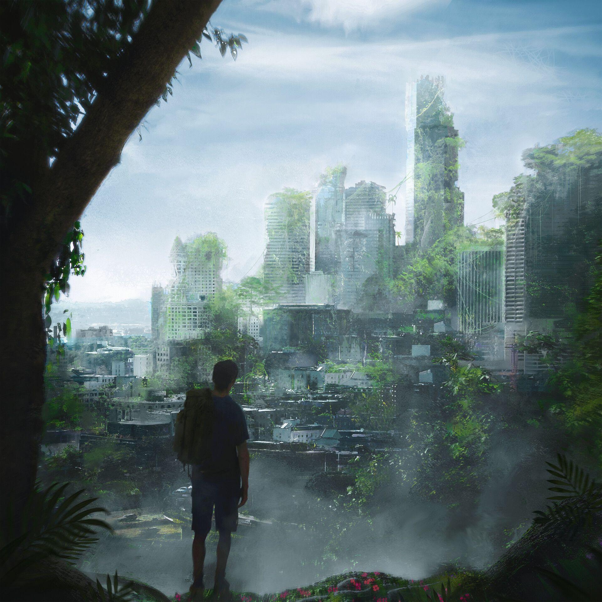 Overgrown City By Rutger Van De Steeg